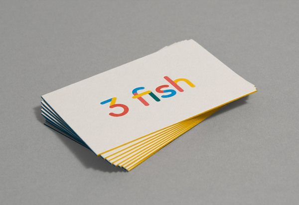 3 fish business cards typographyiconography pinterest 3 fish business cards colourmoves Gallery
