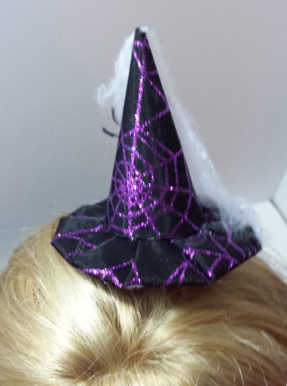Hey, I found this really awesome Etsy listing at https://www.etsy.com/listing/206486131/halloween-mini-witch-hat-fascinator-4-14