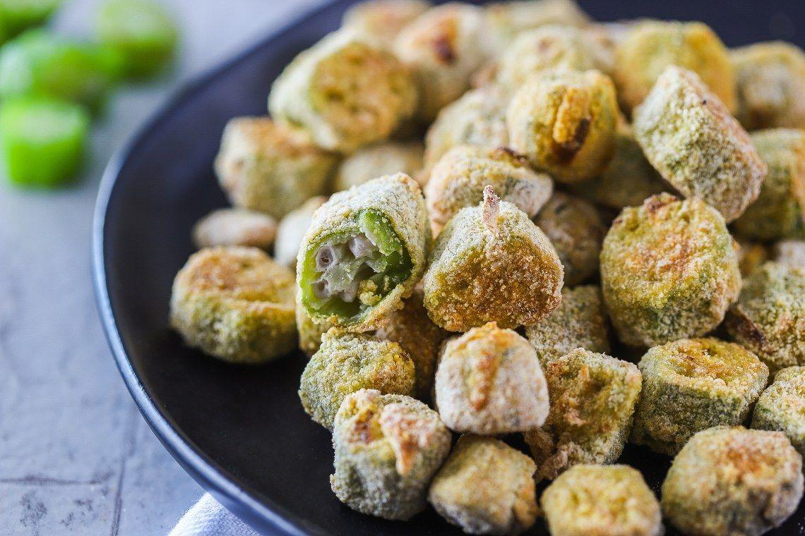 Air Fryer Fried Okra Recipe in 2020 Air fryer recipes