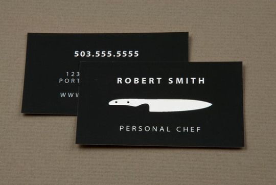 30 Examples Creative Chef Business Card For Inspiration