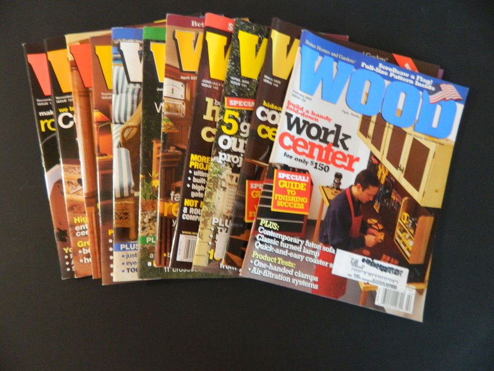 Better Homes And Gardens Wood Magazine 11 Back Issues Woodworking 2001 2002