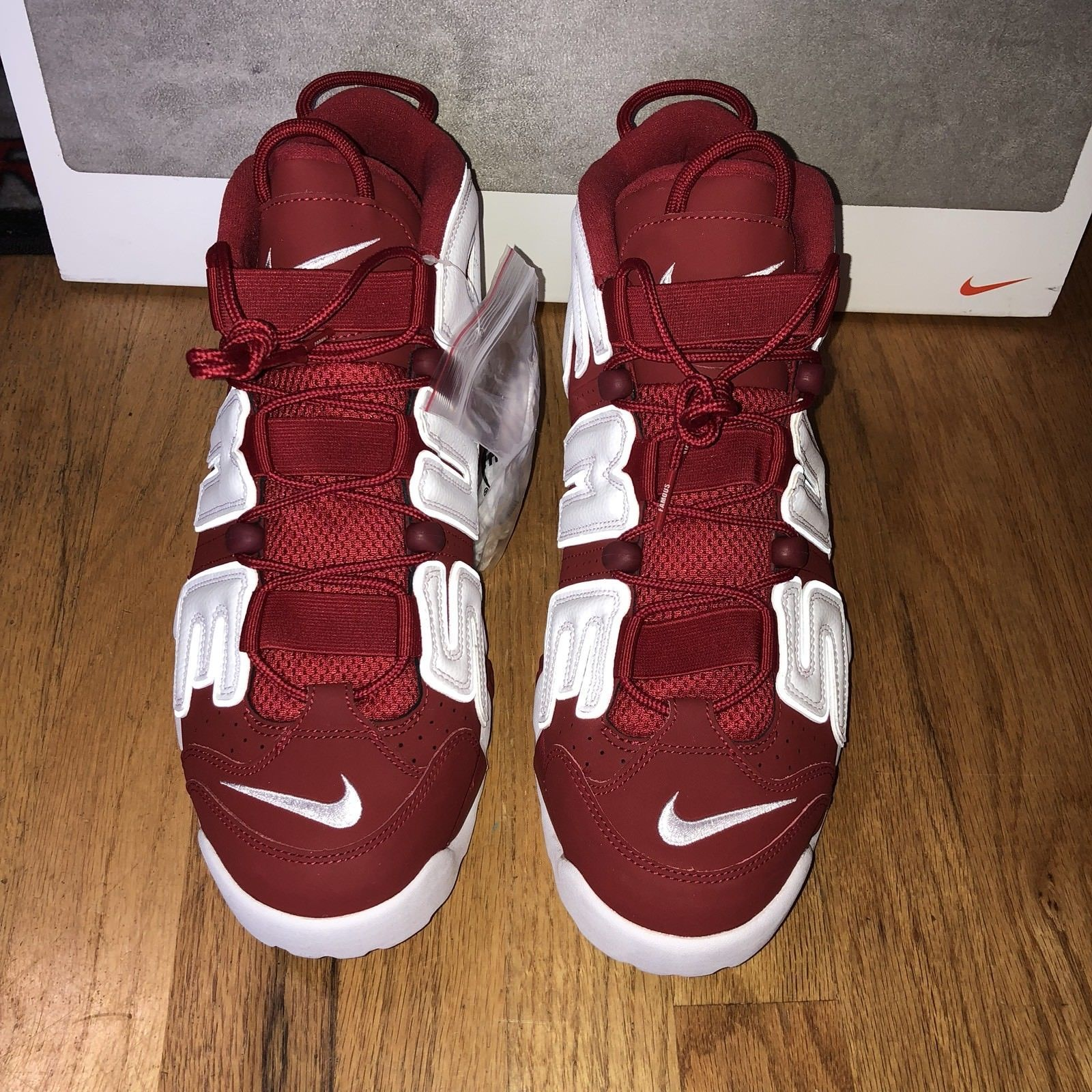 Supreme Nike Air More Uptempo Suptempo Red White 902290-600 Mens Shoes Size  12