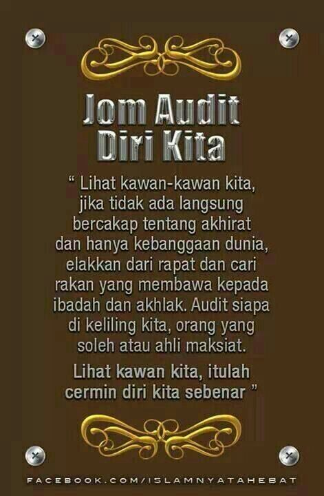 Audit Diri Kita  Islam  The Way Of Life    Islam