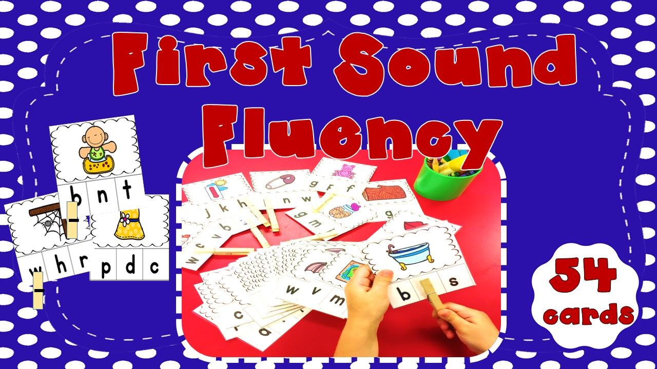 First Sound Fluency FSF Literacy Centers Games