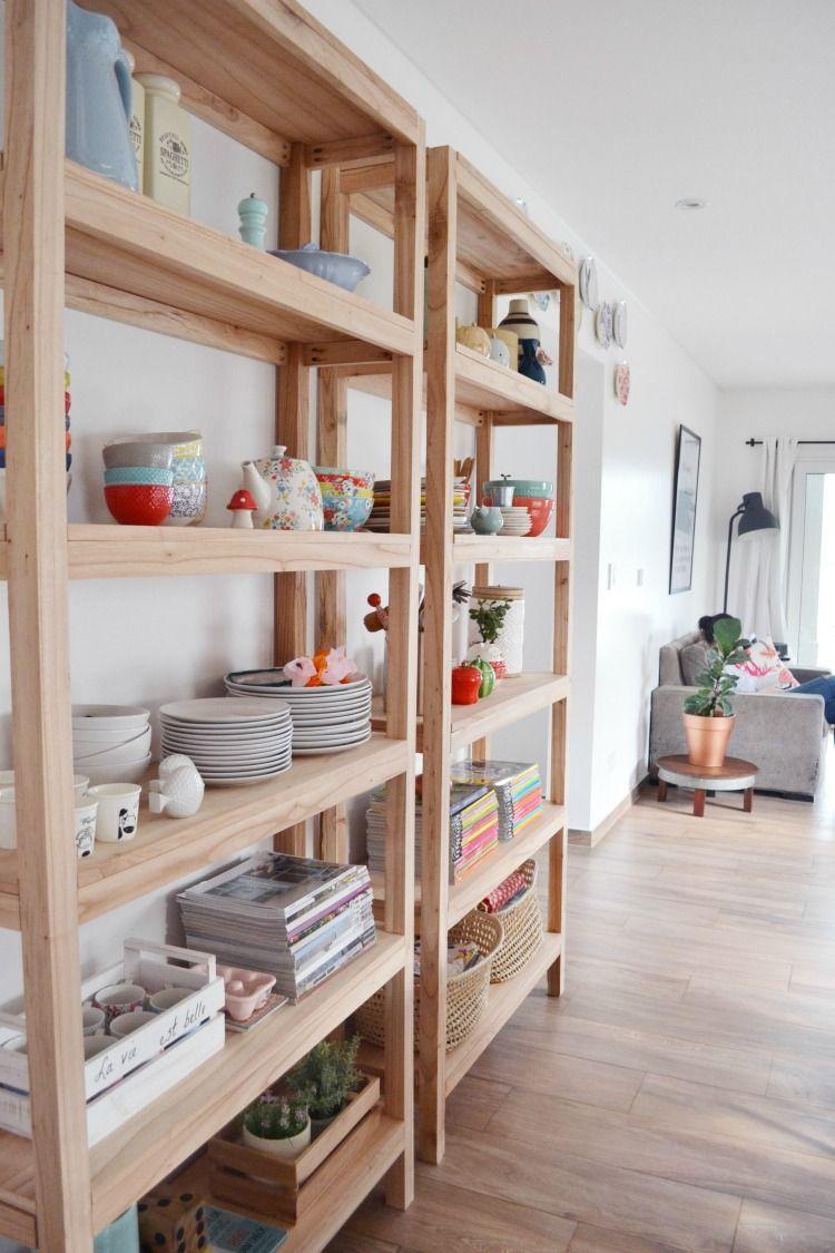 C mo hacer tu propia estanteria de madera in 2019 el - Madera para estantes ...