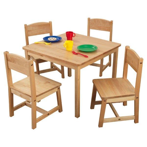 Farmhouse Table Four Chair Set Kids Table And Chairs Farmhouse Table Chairs Kids Table Chair Set