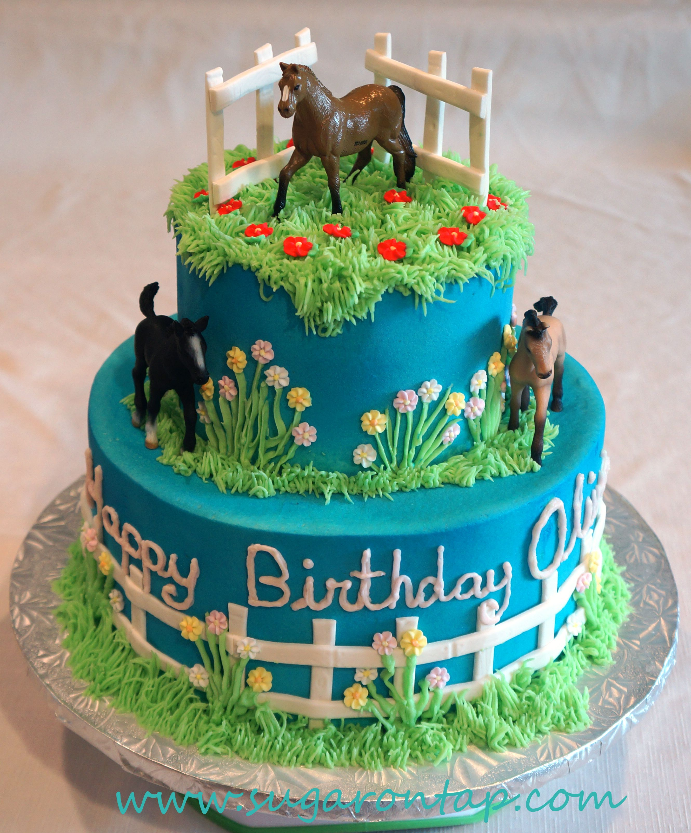 Super Olivias Horse Cake With Images Horse Birthday Cake Horse Funny Birthday Cards Online Fluifree Goldxyz