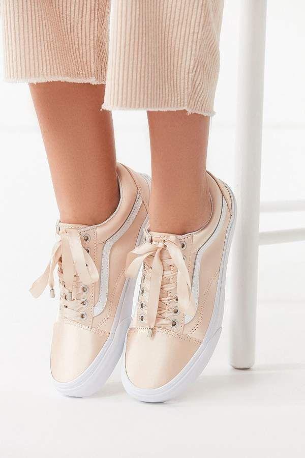 vans pink satin lux old skool sneaker | W 6