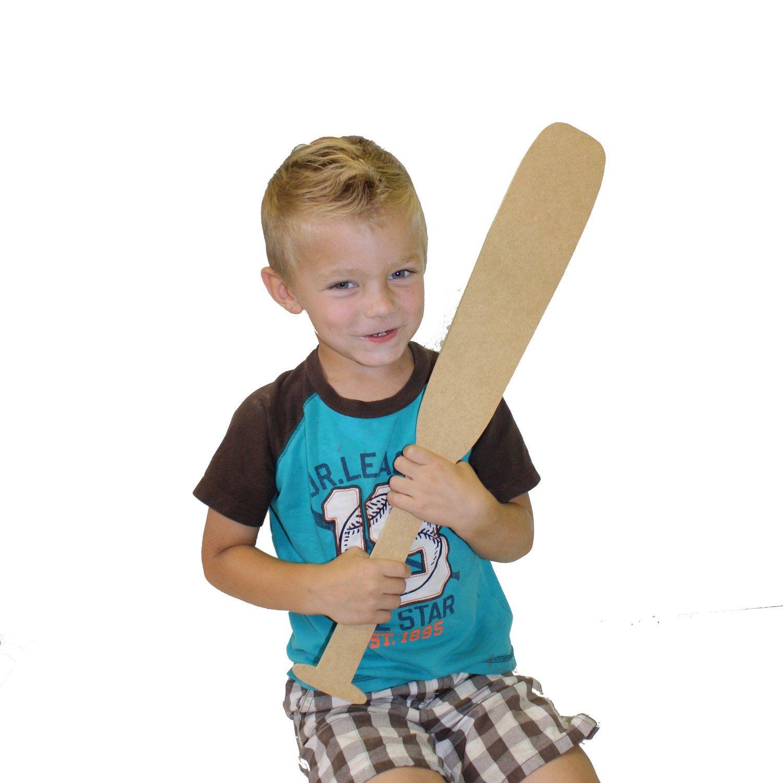 Baseball Bat Paintable Craft Wooden