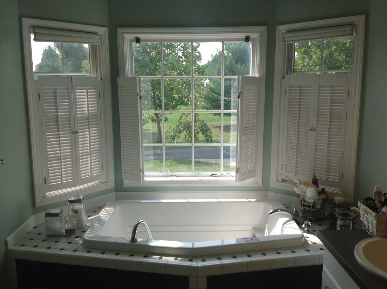 Bay window - bathroom | Bay window, Bathroom windows, Windows