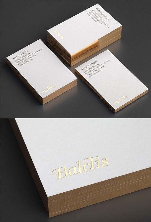 Luxury White And Gold Business Cards For A High End Auction House