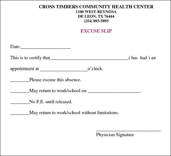 DoctorsNoteForWorkTemplate  Health    Note