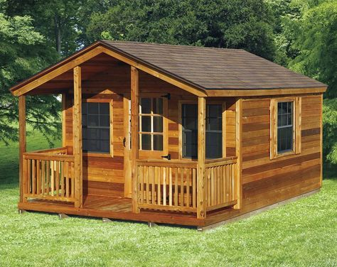 Amish Elite Cabin With Porch Kit Choose Size Cabins In
