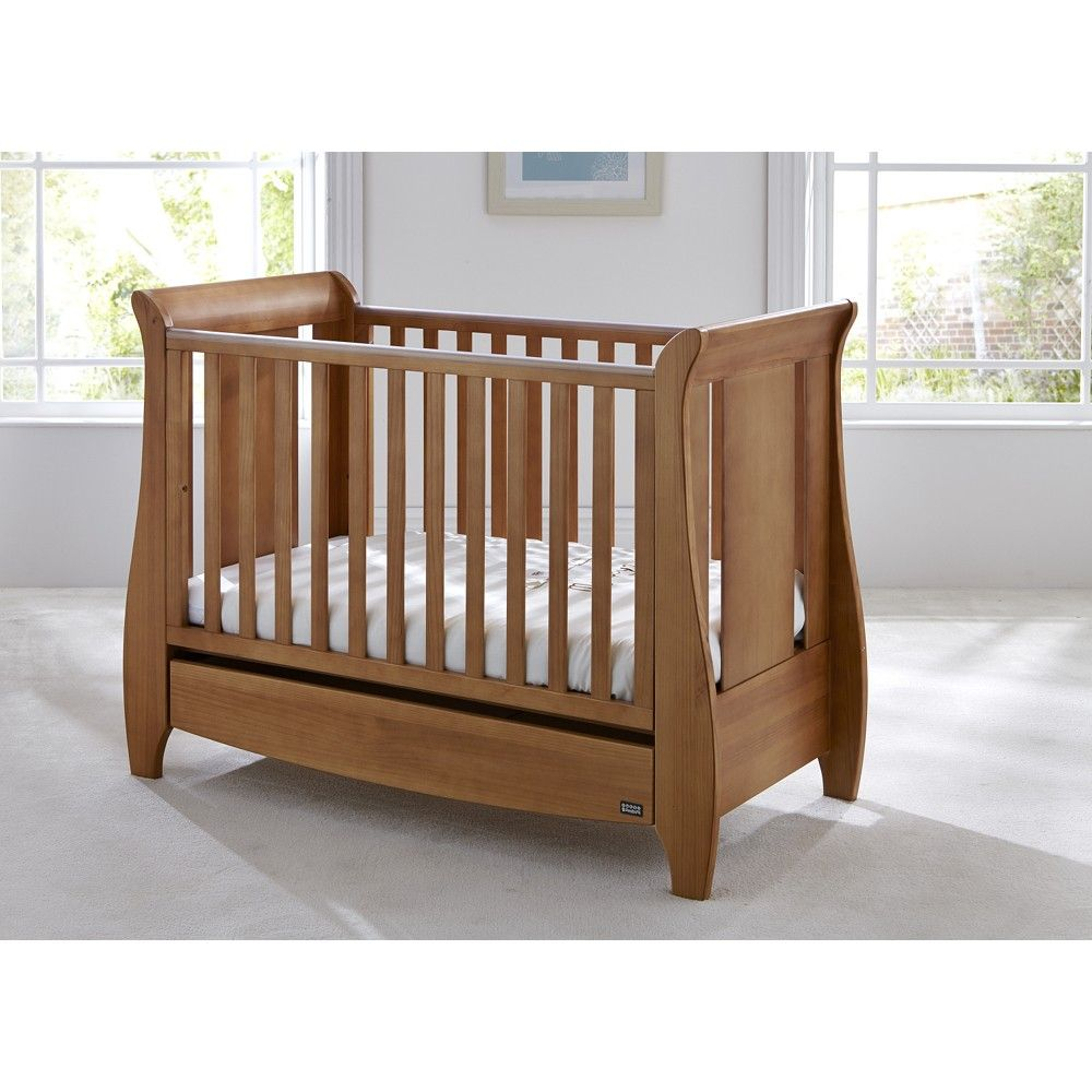 tutti bambini katie mini cot bed drawer foam mattress oak