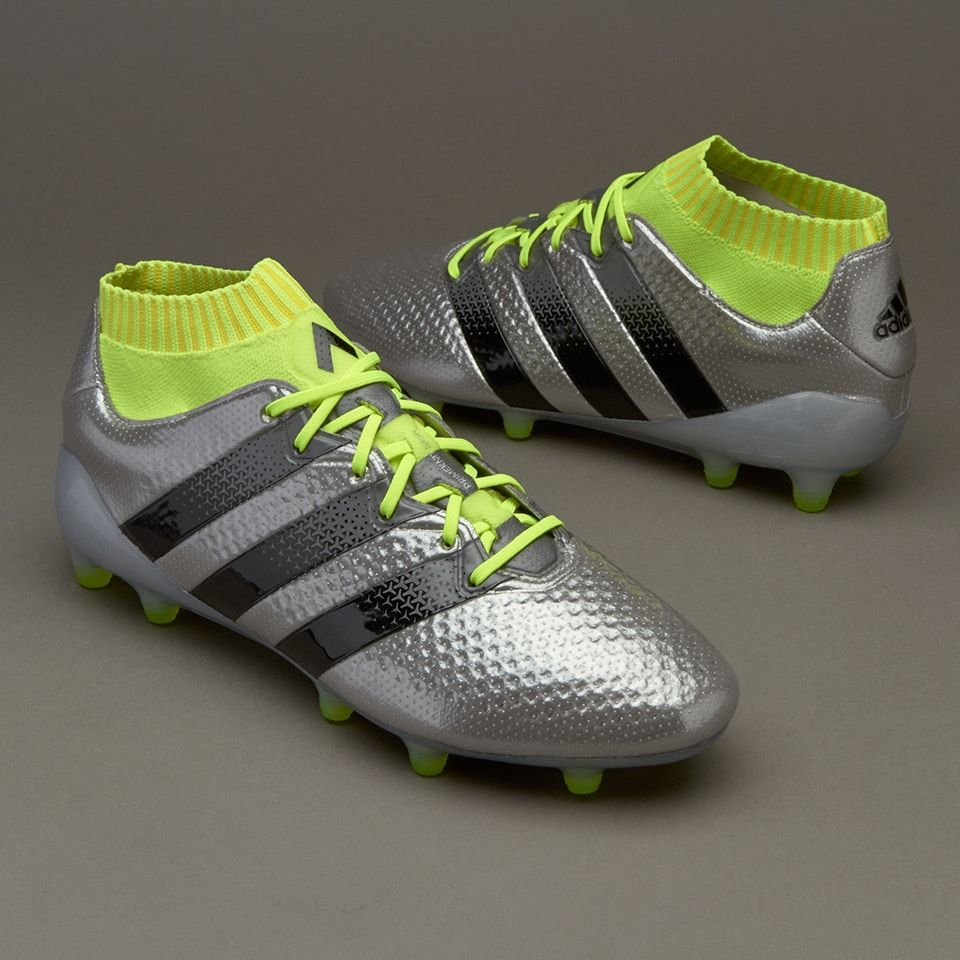 the latest 86eea a8944 adidas ACE 16.1 Primeknit FG AG - Silver Metallic Core Black Solar Yellow