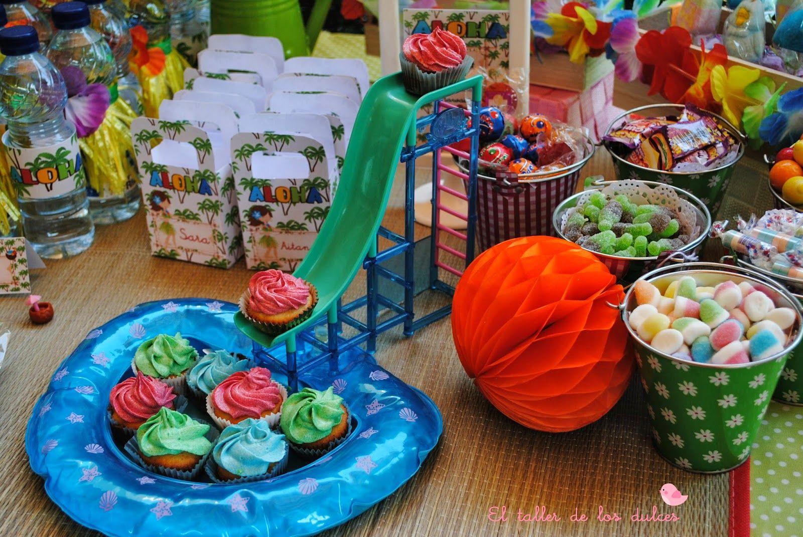 Cupcake de chapuz n en la piscina globos pinterest - Cumpleanos en piscina ...