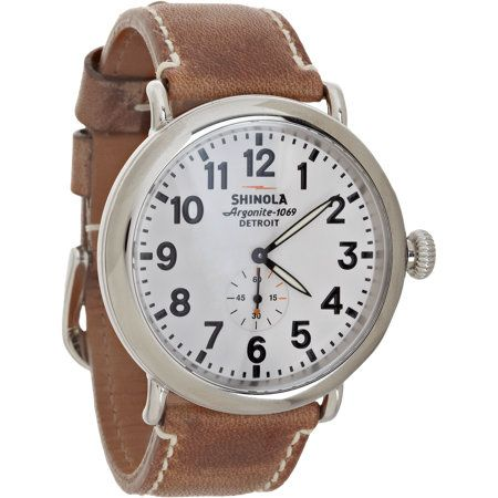 A classic field watch finished with a contrast top-stitched, waxed leather strap made by Horween, the Chicago-based heritage tanners. My favorite from Shinola.
