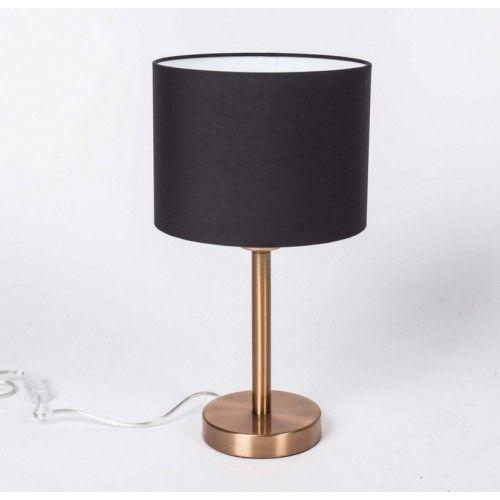 Tischleuchte Mit Lampenschirm Schwarz Tischlampe Farbe Kupfe