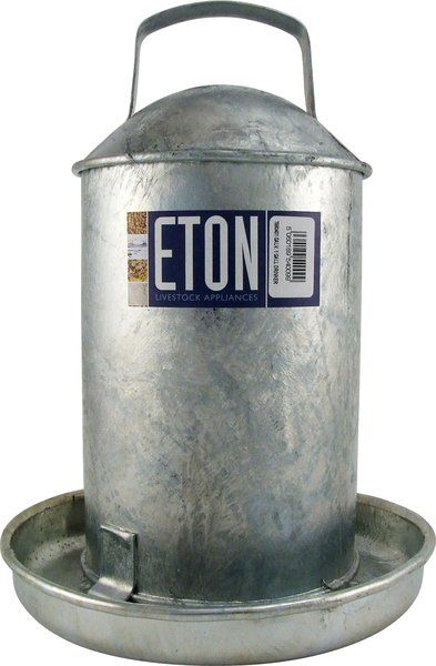 Eton Galvanised Traditional Drinkers 1 Gallon Eton Galvanized Traditional