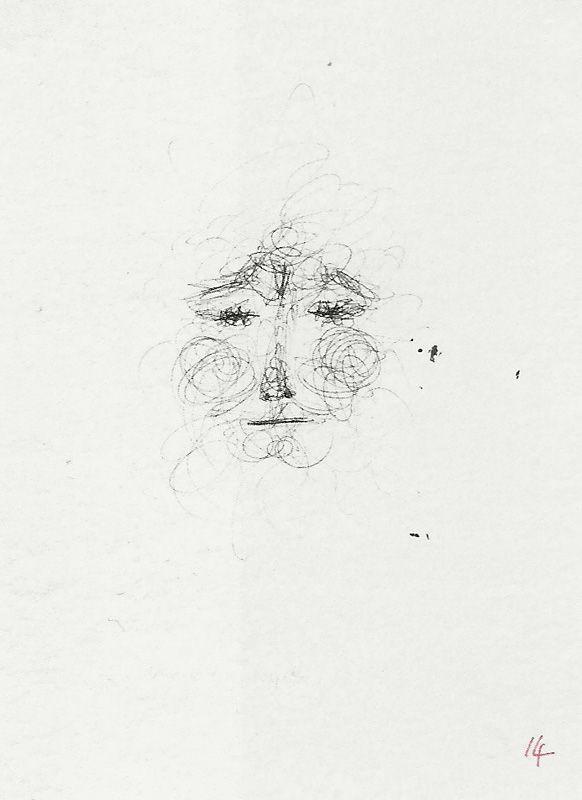 """Bruno Munari, """"Ma quello è Geppetto!"""", illustrazione, in Gianni Rodari, """"La torta in cielo"""", «Libri per ragazzi» n. 19, Einaudi, Torino, 1966"""