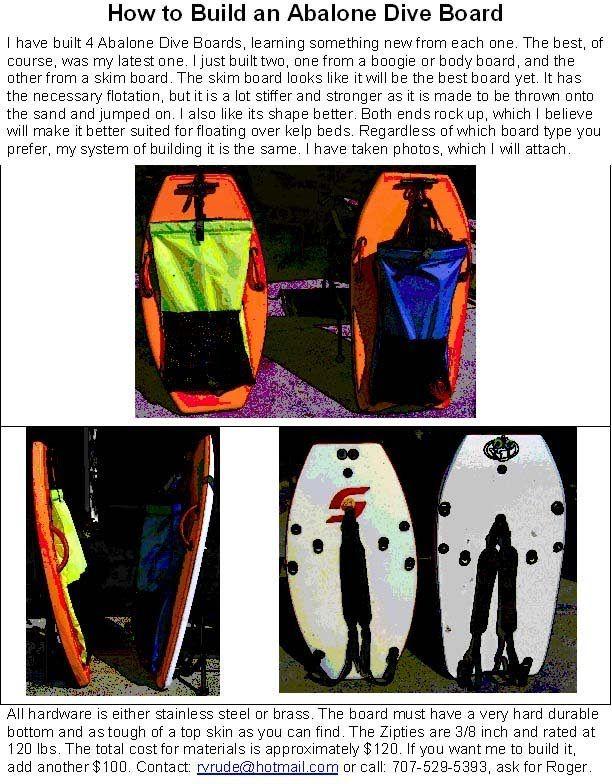 Diveboard Float Abaloneten Spearfishing Spearfishing Gear Float