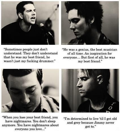 Someday, I will tell these four men what they're music has meant to me and how Jimmy's death broke my heart