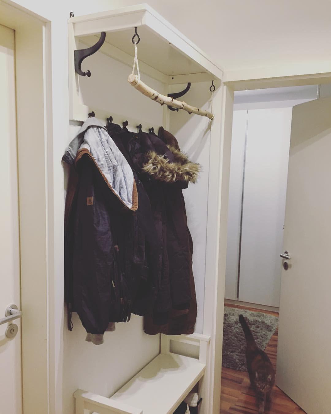 Wohnideen Garderobe diy garderobe mit birkenast ikea hackers wohnideen