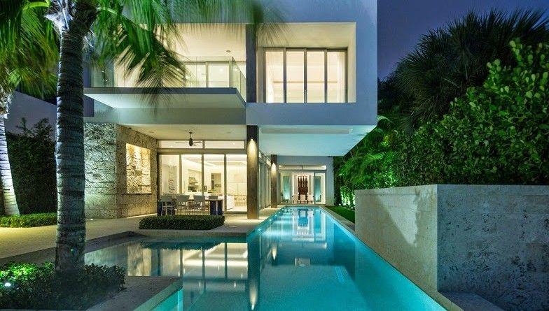 Casa De Lujo Bahia Vizcaina En Miami Florida Arquitexs Small House Design Architecture Modern Small House Design Architecture