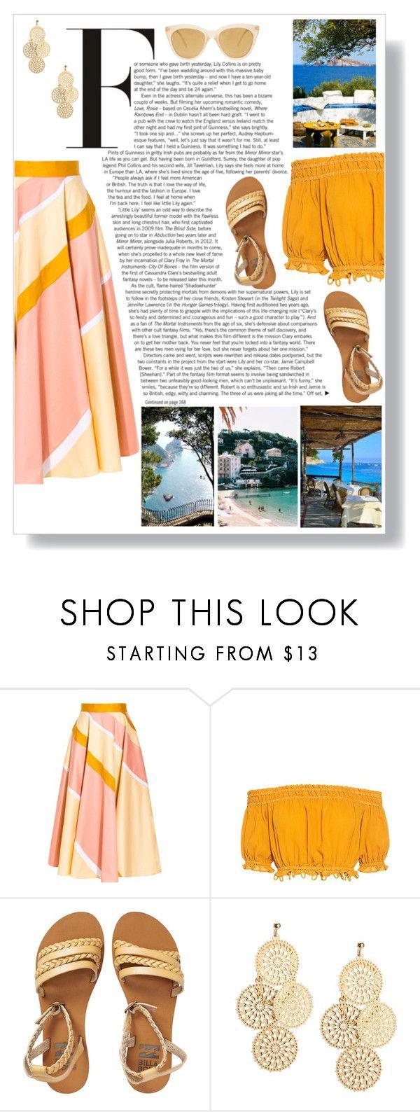 """Exploring Italian Islands"" by thefabulousfashionblog ❤ liked on Polyvore featuring Roksanda, Apiece Apart, Billabong, Le Specs, Summer, beach, summerstyle, summerfashion and summer2017"