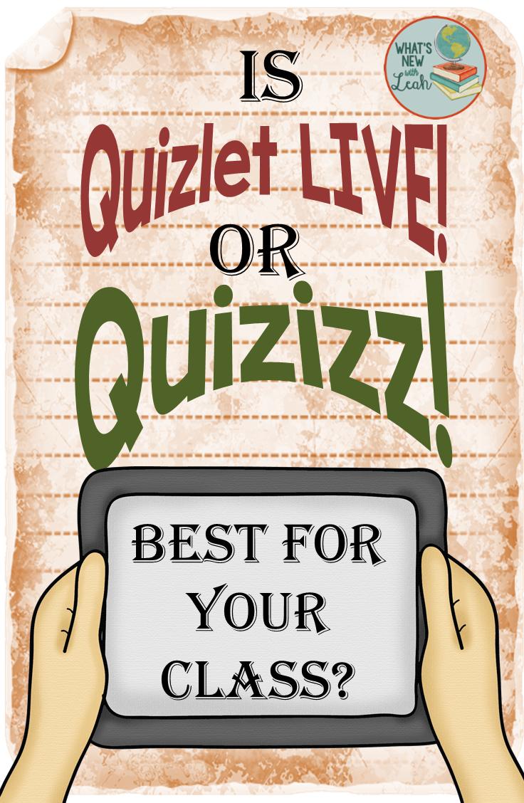 Is Quizlet Live or Quizizz Best for Your Class? | School ...