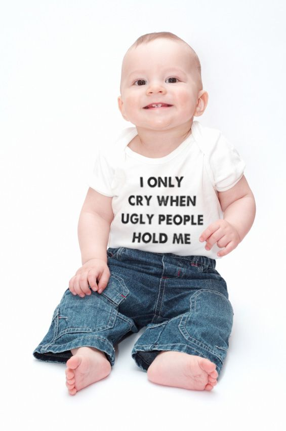 So funny!  Cute gift for Christmas or newborn.