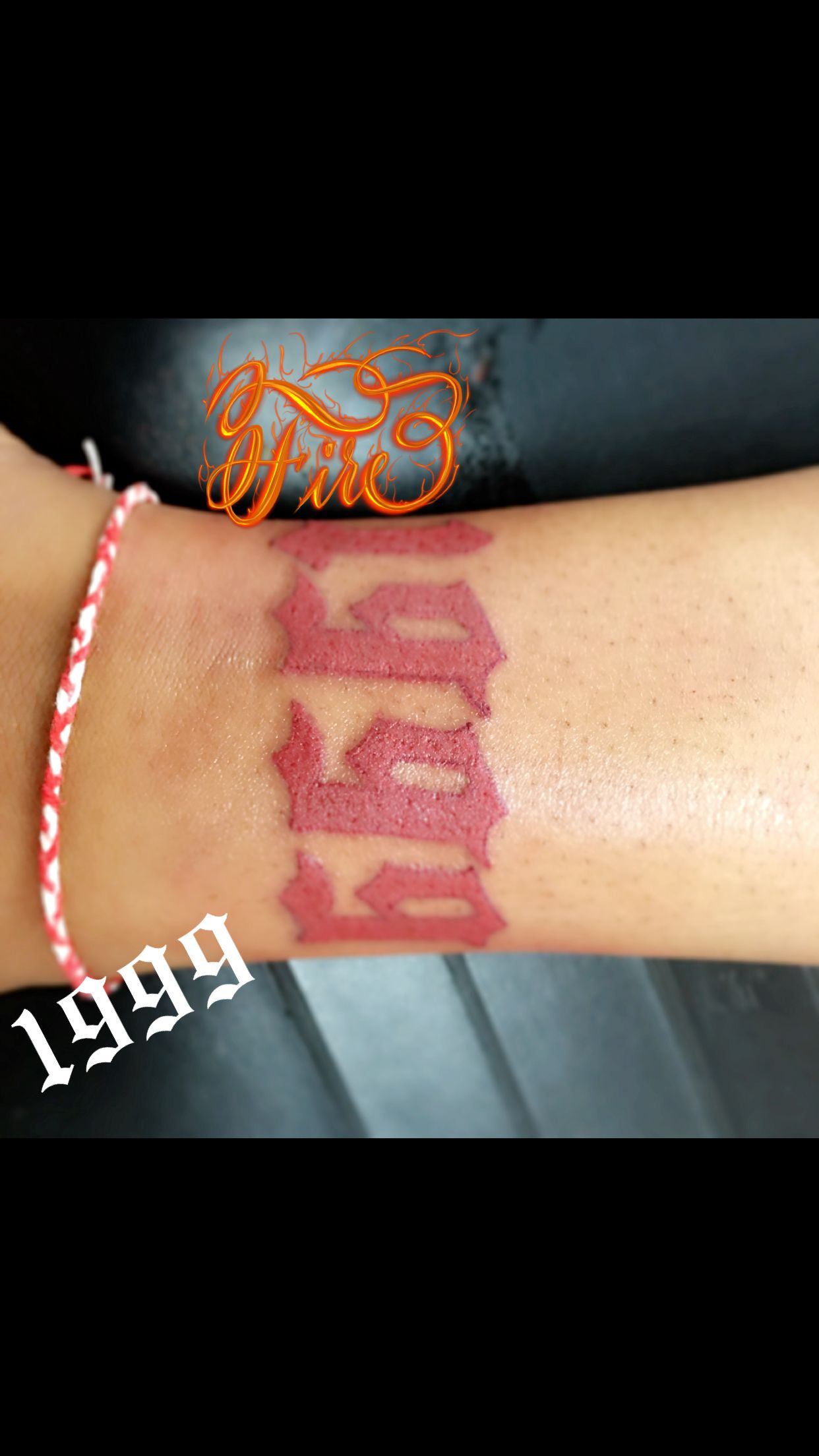 Birth Year 1999 Red Ink Tattoos Ankle Tattoos Dainty Tattoos