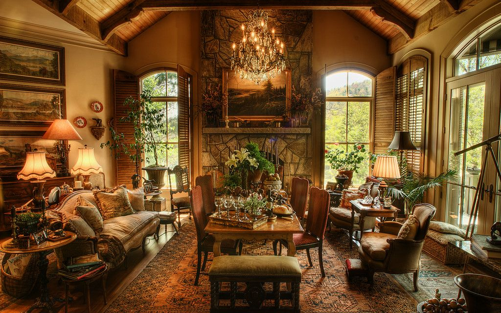 Old World House On Lake Toxaway Tuscan Design