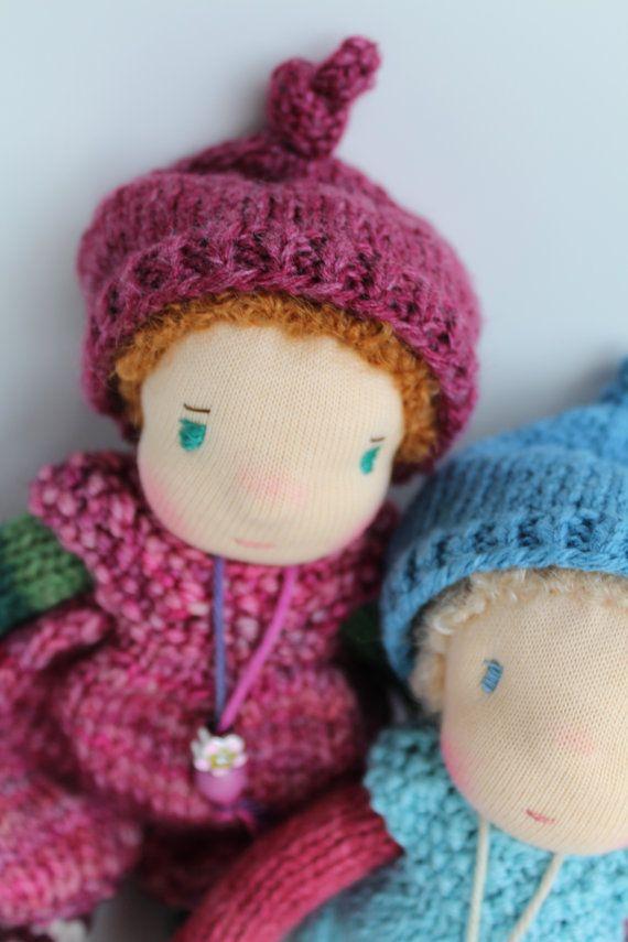 Waldorf doll Waldorf knitted doll 8 / 20 cm Svenja by ...