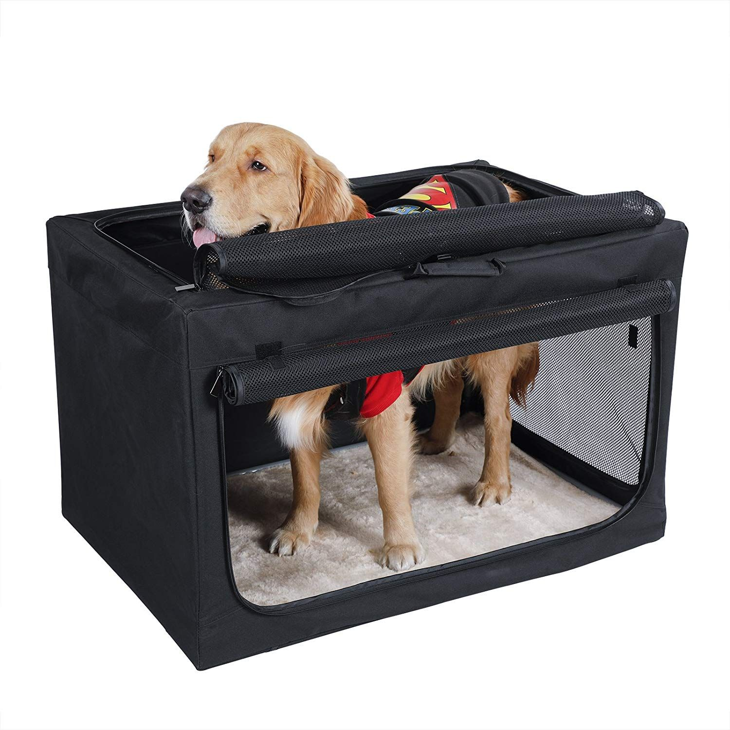 Petsfit Indoor Outdoor Soft Portable Foldable Travel Pet Dog Home Crate Cage Sincerely Hope You Do Love The Pic Dog Crate Soft Dog Crates Large Dog Crate