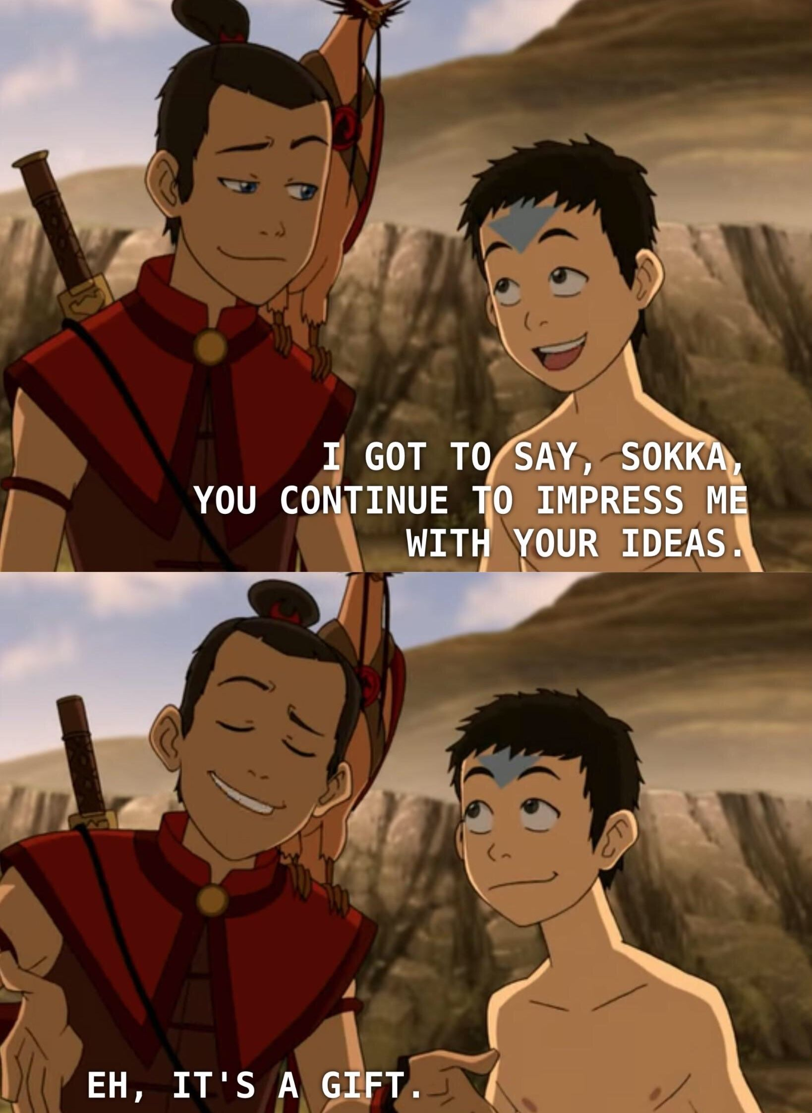 Aang And Sokka In 2020 Avatar The Last Airbender Funny Avatar Funny Avatar Airbender