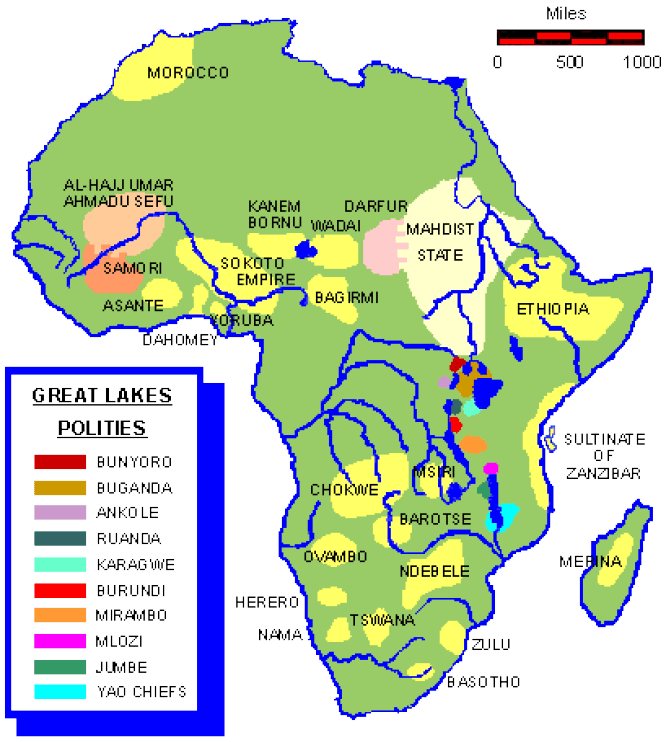 Map Of Africa Before Colonization Pin on History