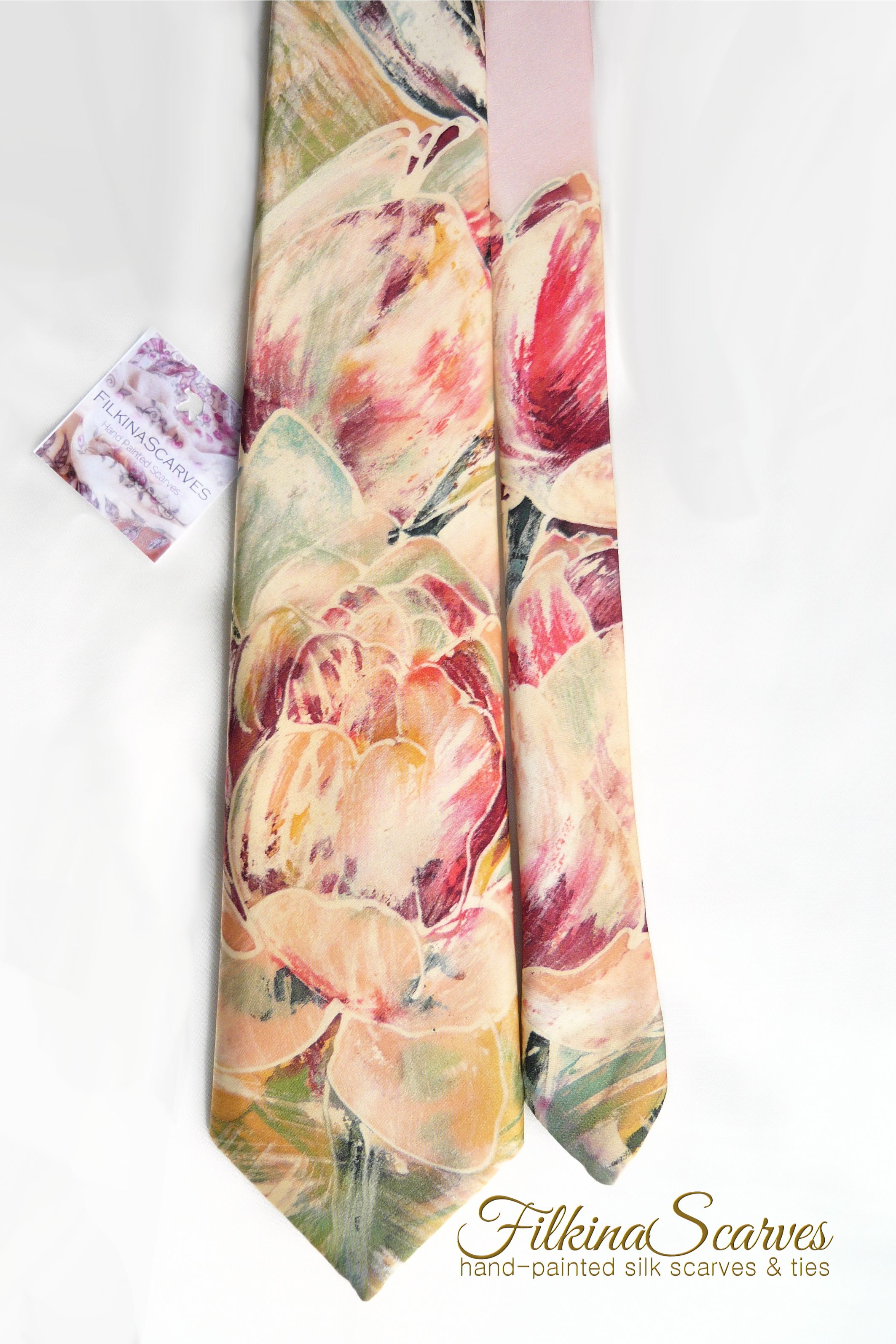 Lily Floral Print Scarf Lillies Pink Flower Festive Ladies Womens Fashon Gift