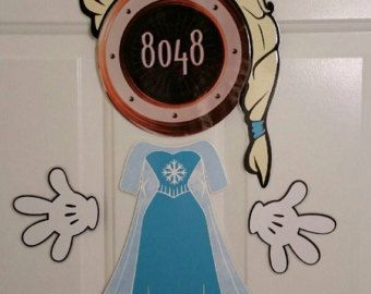 Minnie Mouse Queen Elsa Frozen version 2 Body Part Stateroom Door Magnets for Disney Cruise