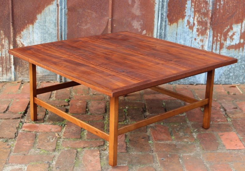 paul mccobb for lane delineator square walnut coffee table mid century vintage
