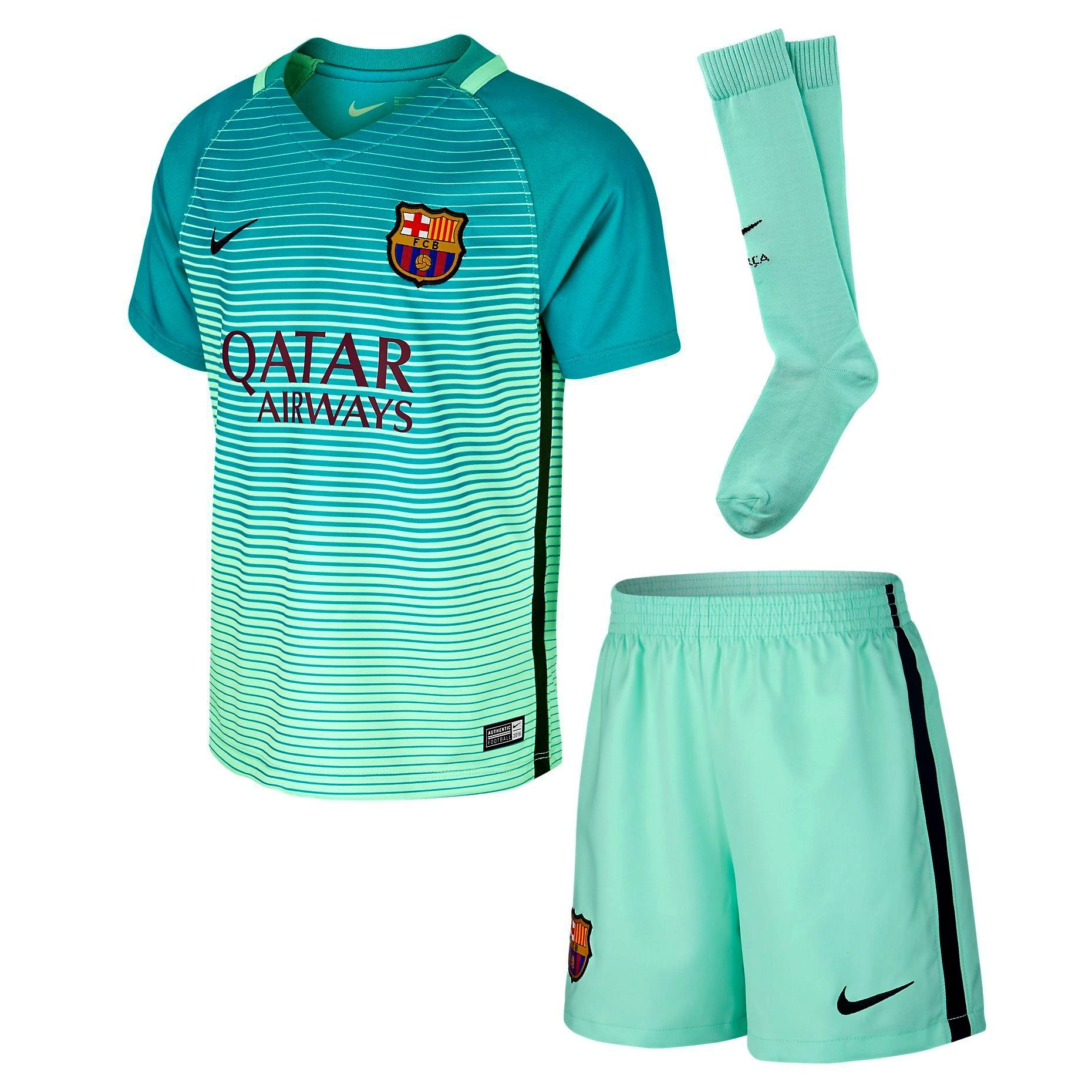 Nike FC Barcelona 2016 17 Junior Third Kit  8b5fc14f9