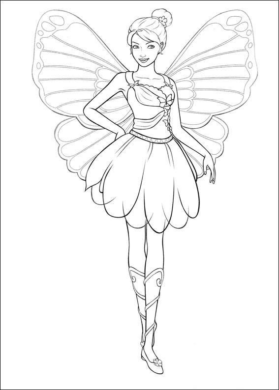 Barbie Mariposa Coloring Page 8 Wallpaper