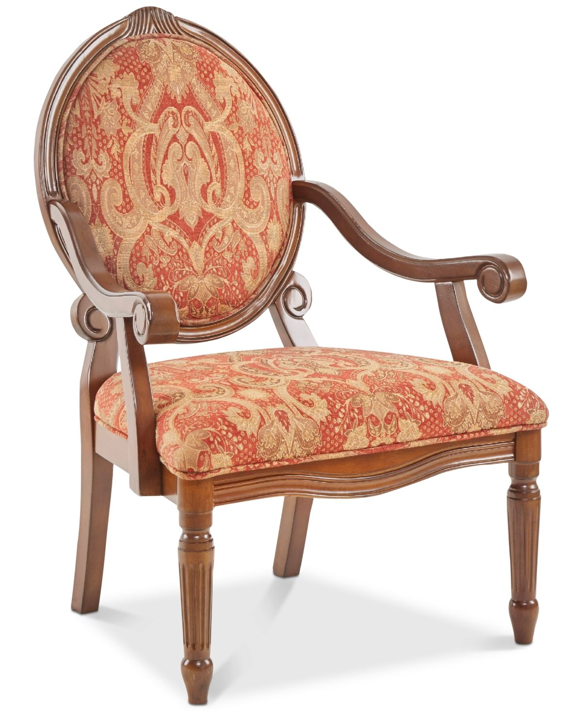 Best Furniture Rory Fabric Royal Burgundy Oval Back Accent 400 x 300