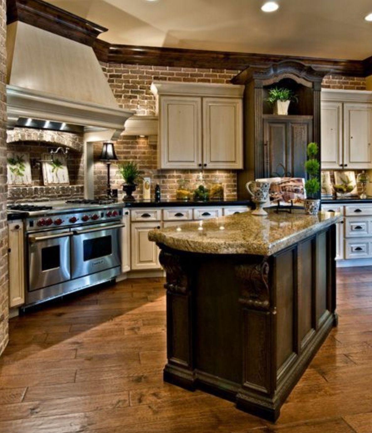 brick backsplash kitchens in 2019 kitchen design kitchen backsplash farmhouse style kitchen on outdoor kitchen backsplash id=27545