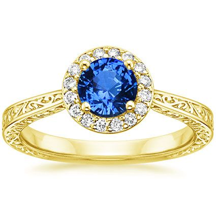 18K Yellow Gold Sapphire Contessa Ring from Brilliant Earth