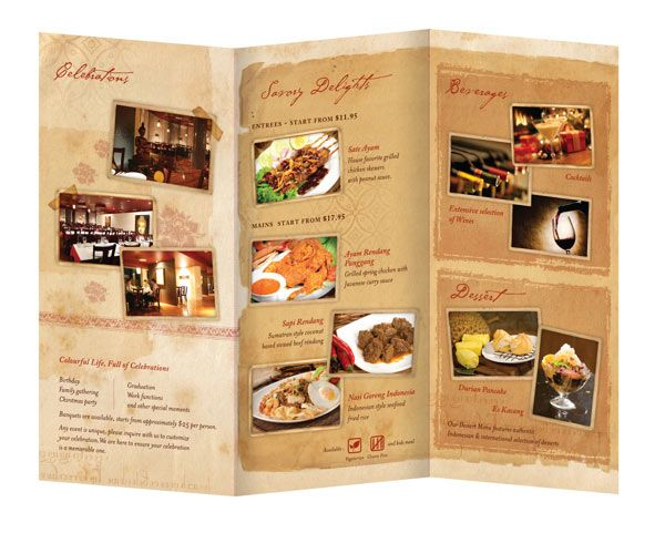 Restaurant Brochures  Graphic Design    Brochures Cheap