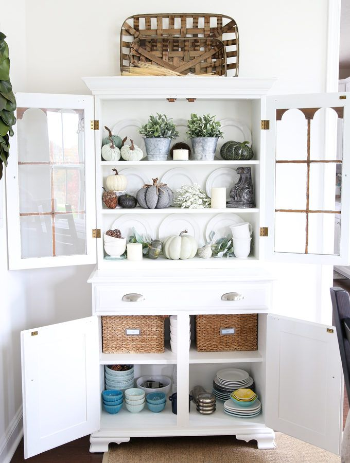 Home Organization How To Organize Your Dining Room Before The Holidays Organized Hutch Sideboard Organiz