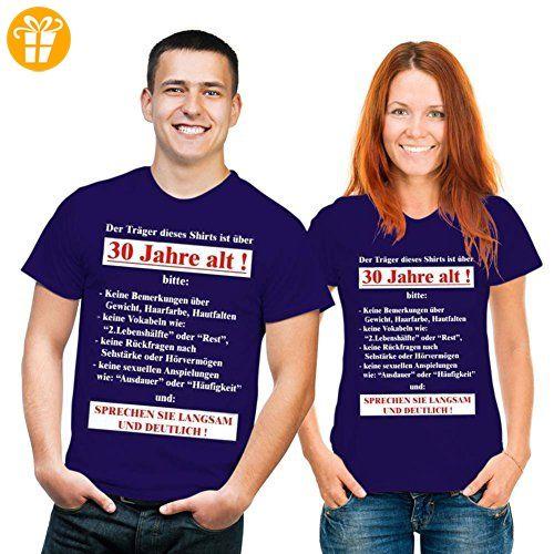 Geburtstags Fun Tshirt Der Träger dieses Shirts ist über 30 Jahre alt!... Farbe navy-blau - Shirts zum 50 geburtstag (*Partner-Link)