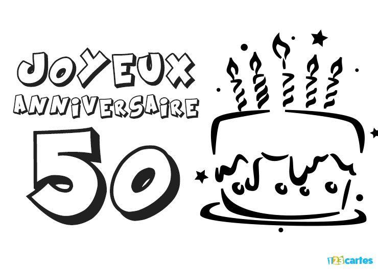 23 cartes joyeux anniversaire age 50