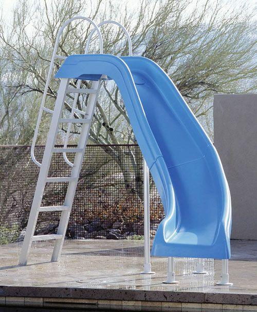 Blue Pool Water Slides City Ii Swimming Pool Pool Slide By Inter Fab Swimming Pool Slides Pool Water Slide Swimming Pools